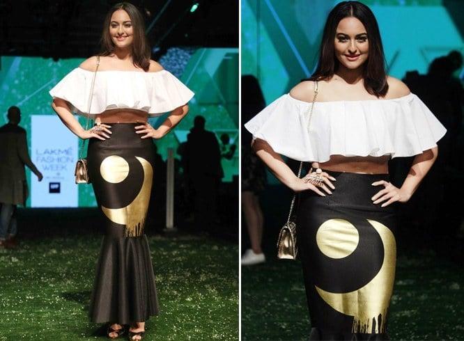 Sonakshi Sinha in Masaba Gupta skirt
