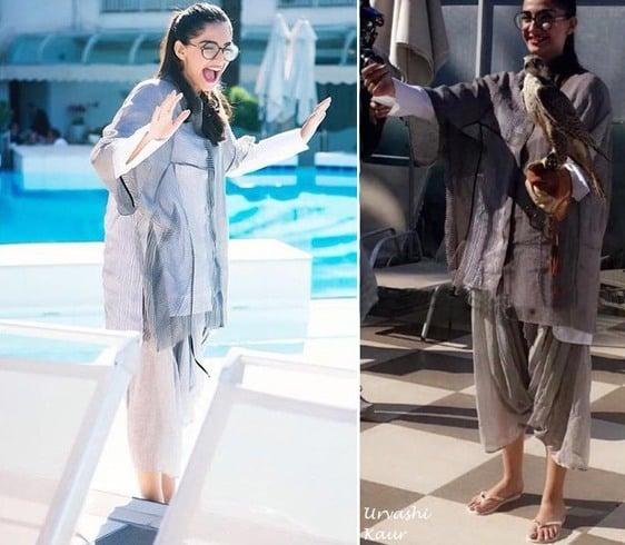 Sonam Kapoor In Urvashi Kaur Khadi Outfit