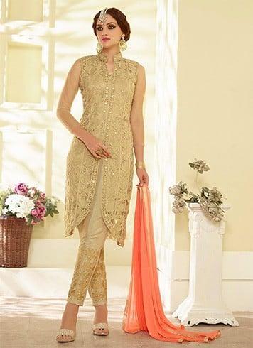 Straight pants with wedding salwar