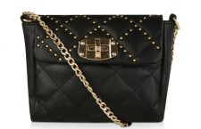 Studded Quilted Sling Bag