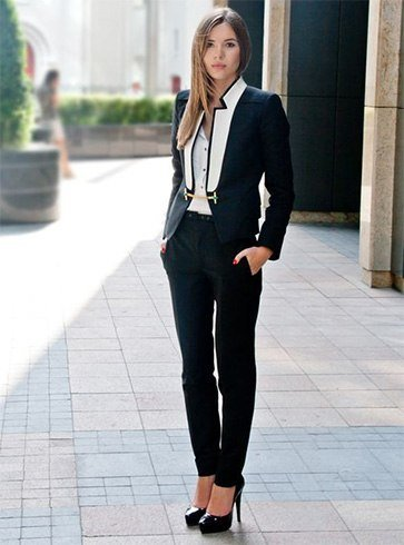 Suit it up with white shirt