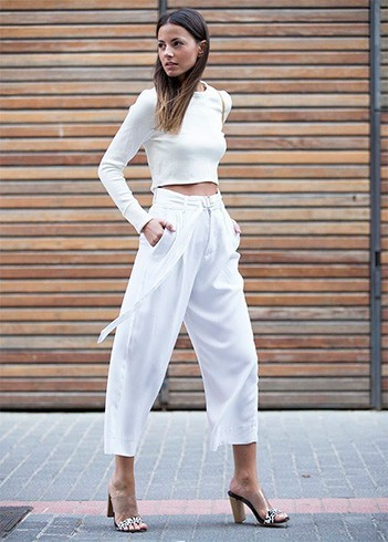 White mules with dress