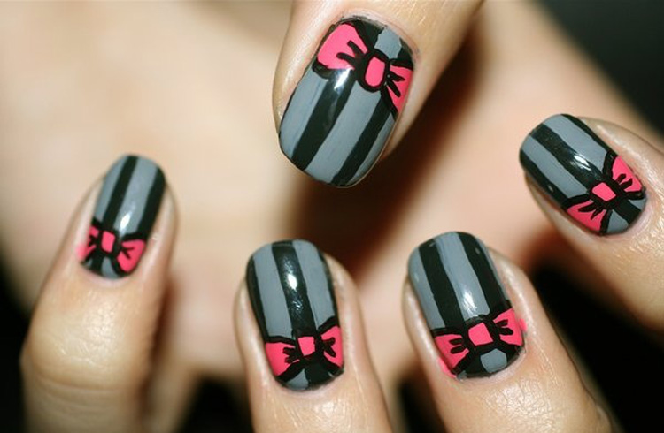 Cute striped nail designs