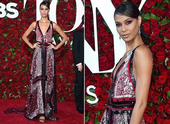 Joan Smalls at Tony Awards 2016