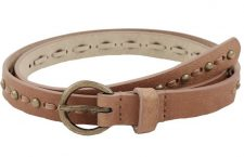 Warehouse Stud And Stitch Leather Belt