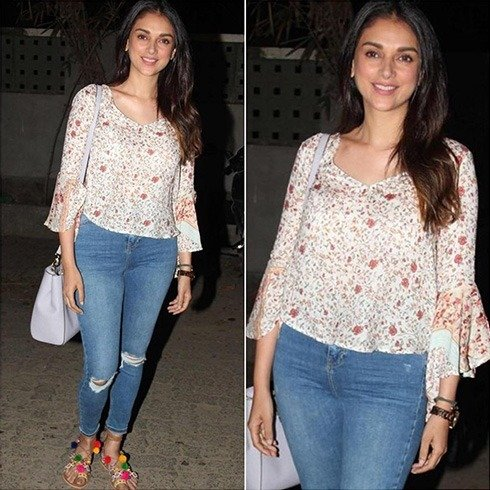 Aditi Rao Hydari in Ripped Denims