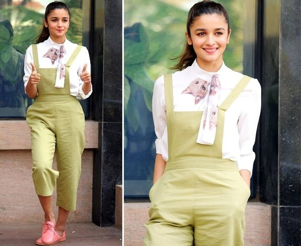 Alia Bhatt in Madison Green Dungree