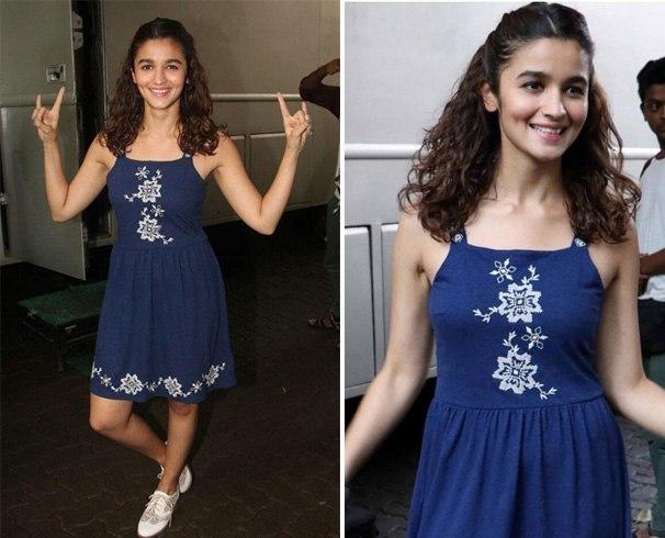 Alia In Topshop Dress