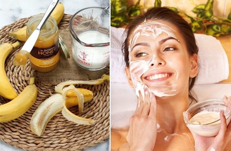 Honey Milk And Bananas Face Pack
