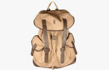 Beige Cotton Backpack