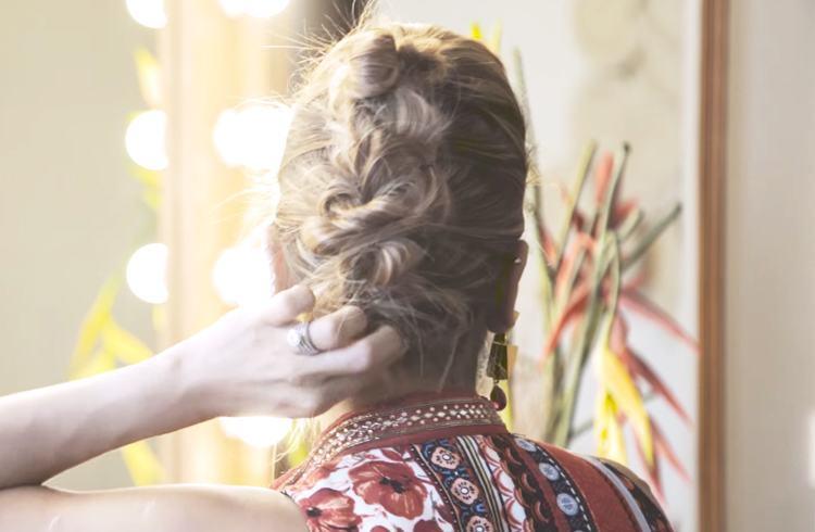 Boho Mohawk Hairstyle