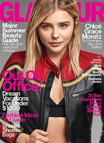 Chloe Grace Moretz On Glamour June 2016 Magazine