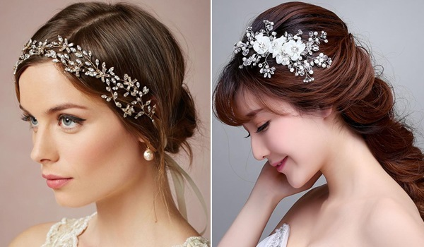 To Accessorize Your Bridal Hair Wearing Cute Wedding Hair Accessories