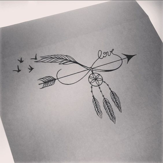 dream catcher infinity tattoo