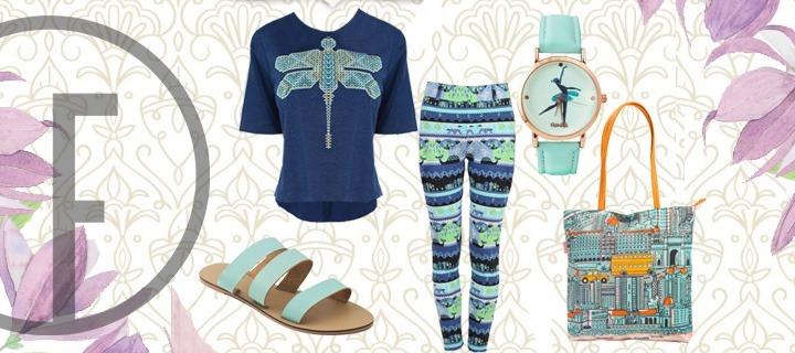 Blue fashion trend