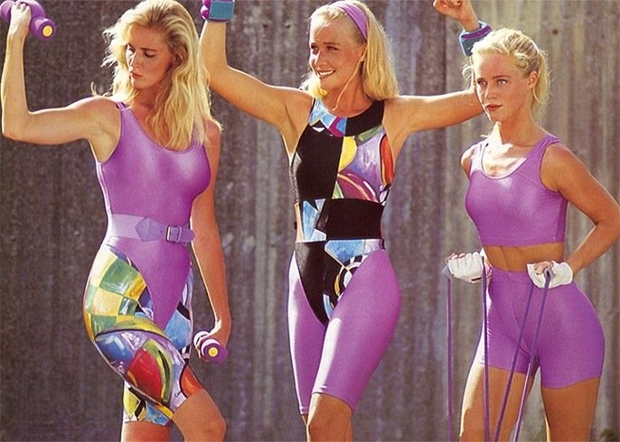 Gym Clothing For 1980s