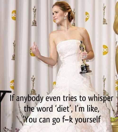 Jennifer Lawrence Diet
