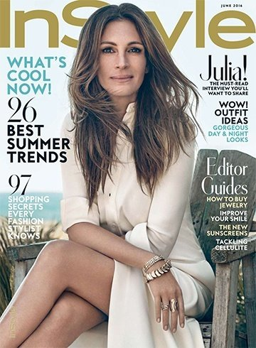Julia Roberts On InStyle June 2016 Magazine