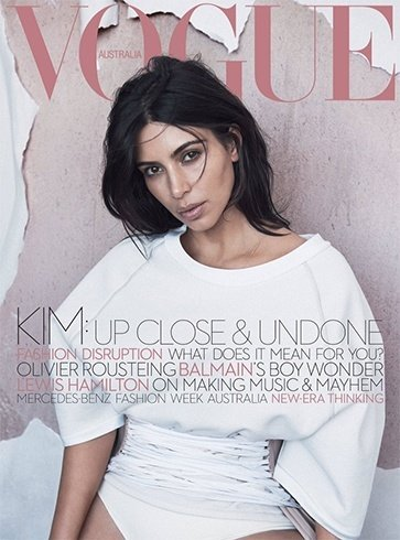 Kim Kardashian On Vogue Australia June 2016 Magazine