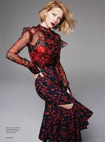 Lea Seydoux On Elle UK June 2016 Magazine Photoshoot