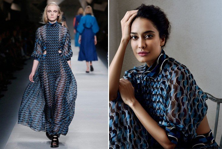 Lisa Haydon in Fendi