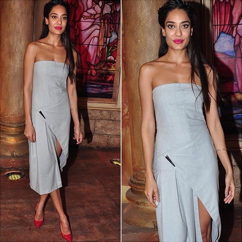 Lisa Haydon in Prabhal Gurung gray outfit