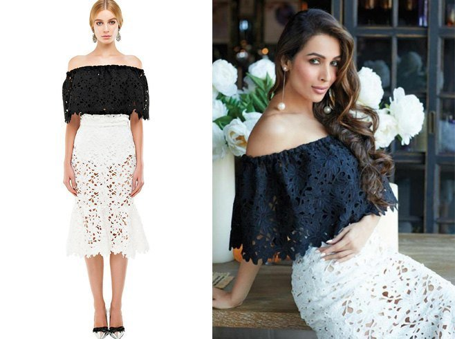 Malaika Arora in Bambah Boutique