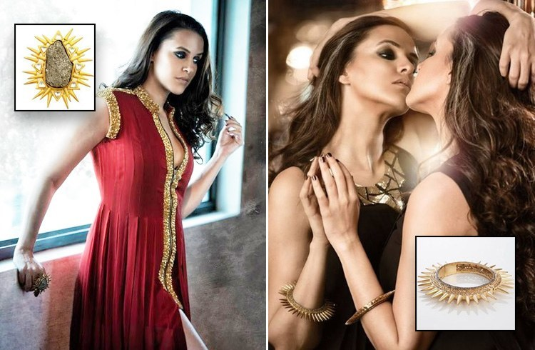 Neha Dhupia in Vasundhara Collection