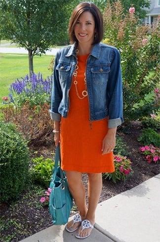 Orange Dress Fashion
