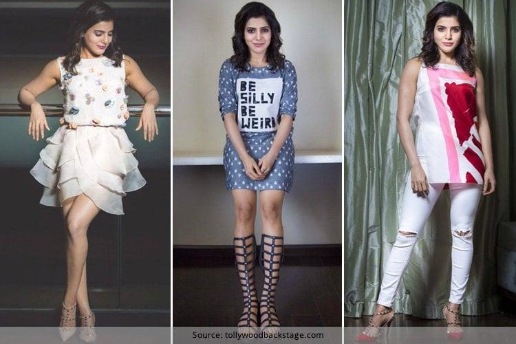Samantha Prabhu at A Aa Promotions