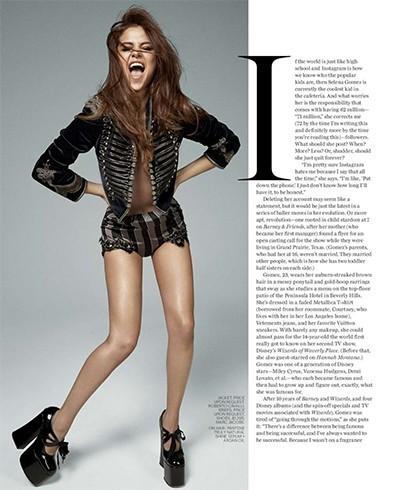 Selena On Marie Claire 2016 Magazine Photoshoot