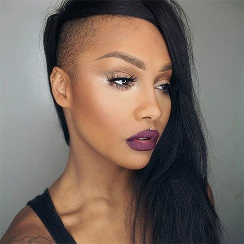 Shaved Hairstyles For Women A Touch Of Edginess To Your Natural Updo Indian Fashion Blog