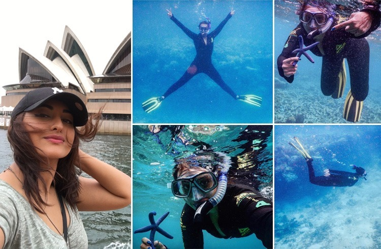 Sonakshi Sinha scuba diving