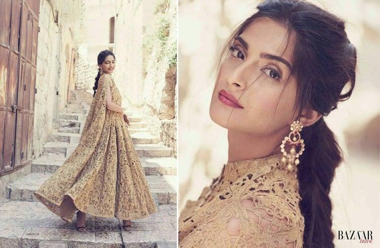 Sonam Kapoor Bazaar Bride July 2016 Magazine Photoshoot