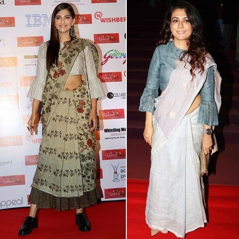 Sonam Kapoor and Mini Mathur in Anavila sarees