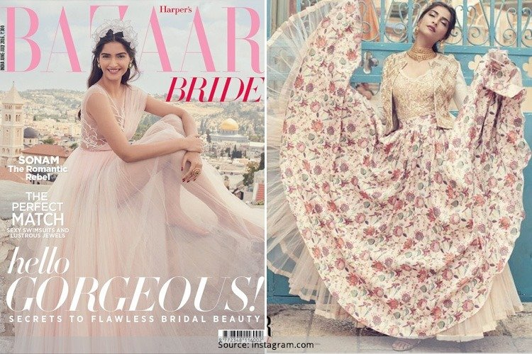 Sonam Kapoor On Bazaar Bride July 2016 Issue
