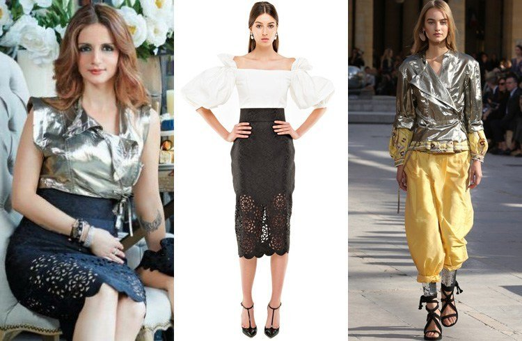 Sussanne Khan in Isabel Marant glaze top and Bambah Boutique skirt