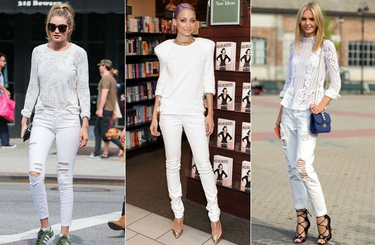 Actresses in White Jeans