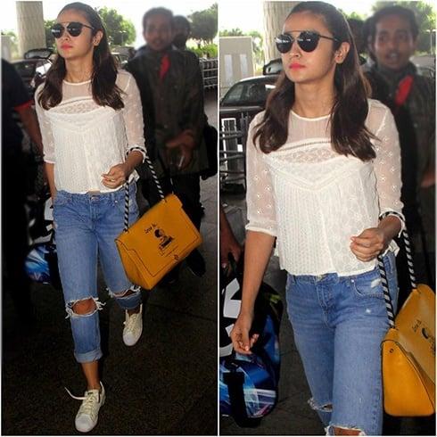 Alia Bhatt Airport Styles