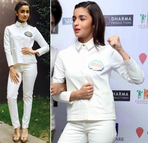 Alia Bhatt In A White Shirt