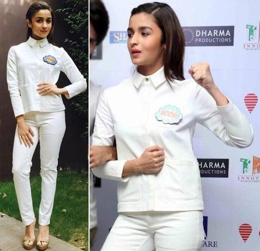Alia Bhatt In A White Shirt