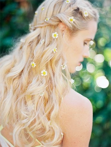 Bridal Flower Hairdo