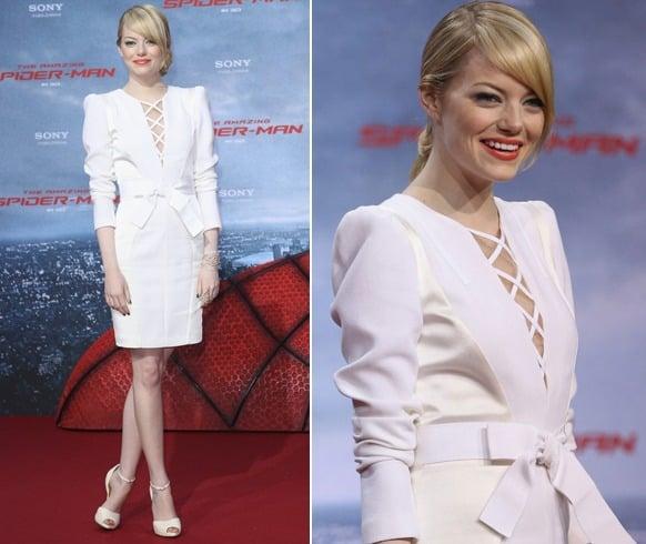 Celebrites In White Dresses