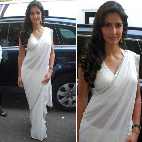 Celebrites In White Saree