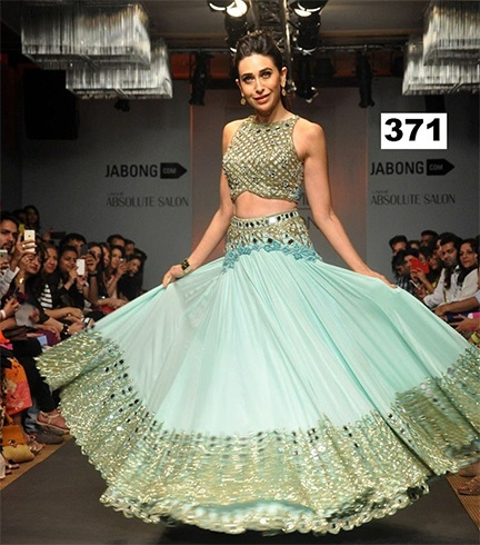 25 Lehenga Sarees With Blouse Designs