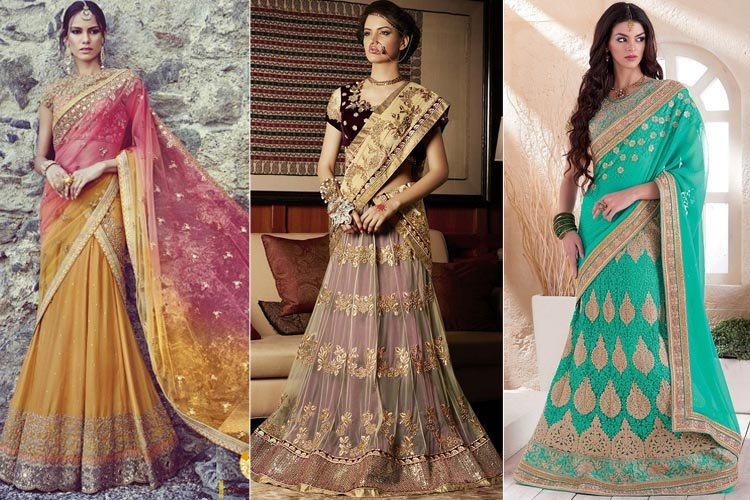 How To Drape Lehenga Saree