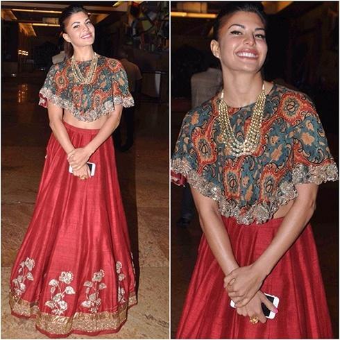 Jacqueline Fernandez Jayanti Reddy outfit