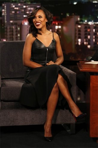 Kerry Washington At Jimmy Kimmel Show