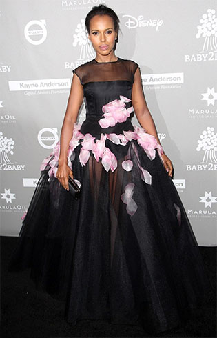 Kerry Washington At Giambattista Valli haute Couture