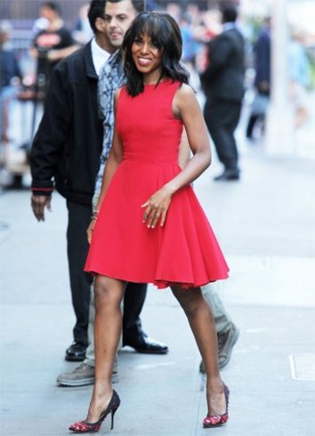 Kerry Washington Red Hot Scatter Dress